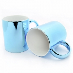 Blue mirror cups