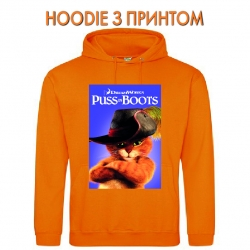 Худи с принтом Puss in Boots Main оранжевый