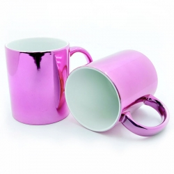 Pink mirror cups