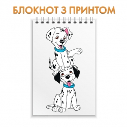 Notepad Dalmatian Two Puppies