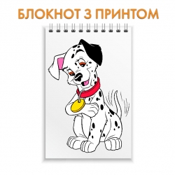 Notepad Dalmatian Puppy With Medal