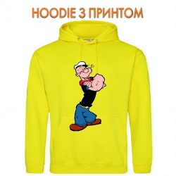 Худи с принтом Popeye the Sailor Powerfull желтый