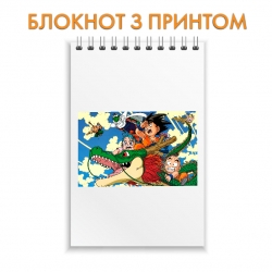 Блокнот Dragon ball Main Heroes