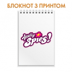 Notebook Jetix Totally Spies Logo