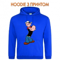 Худи с принтом Popeye the Sailor Powerfull голубой